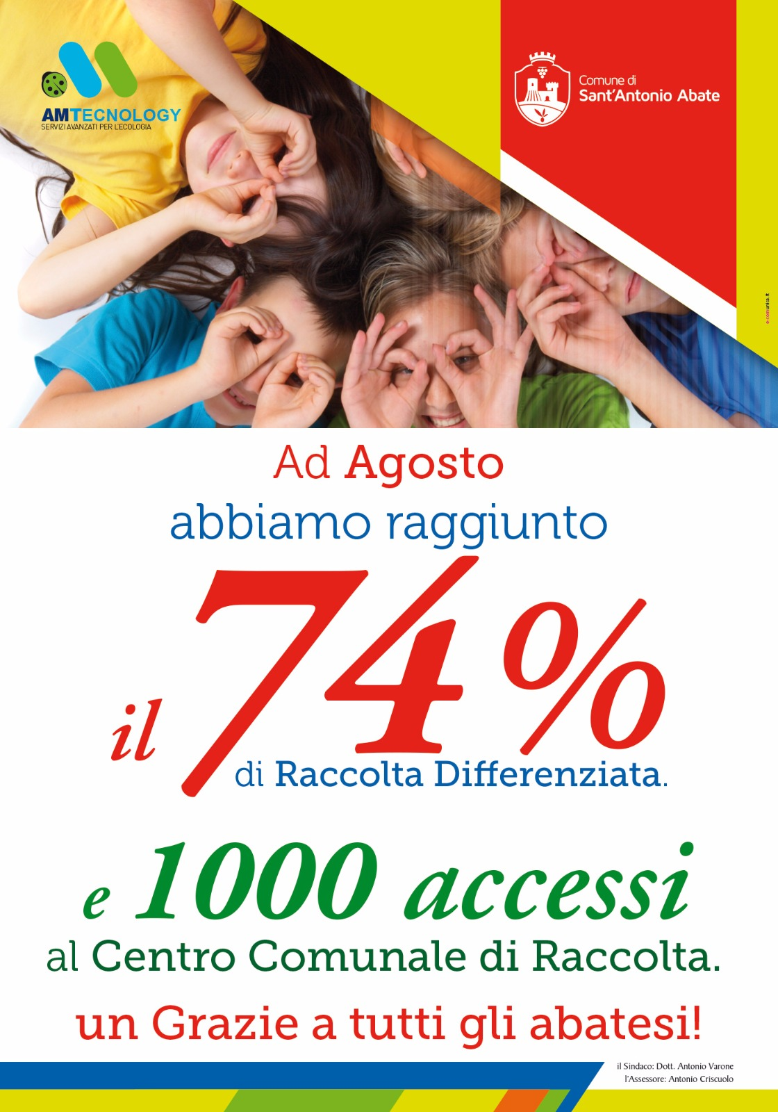 raccolta differenziata 74%