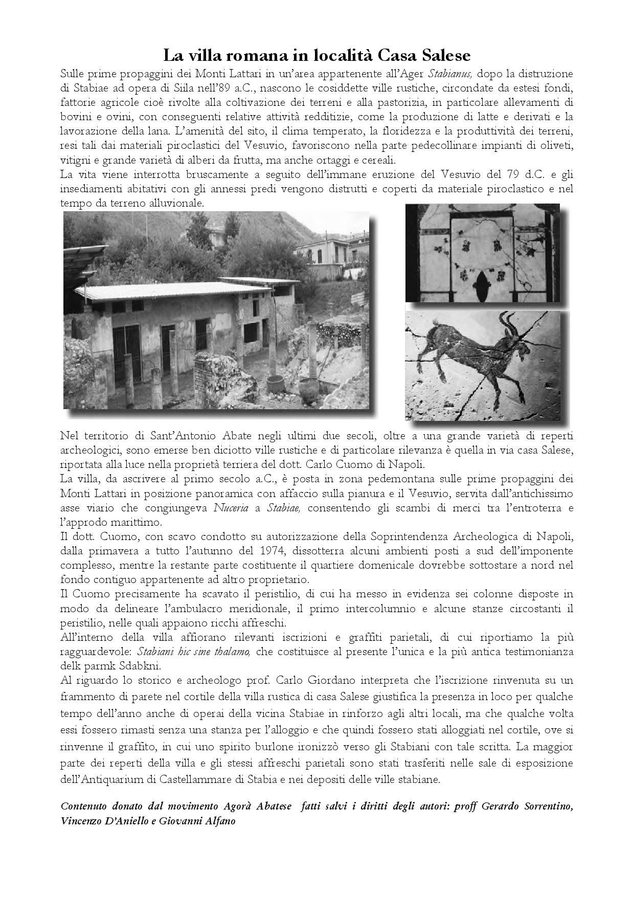 La villa romana in località Casa Salese