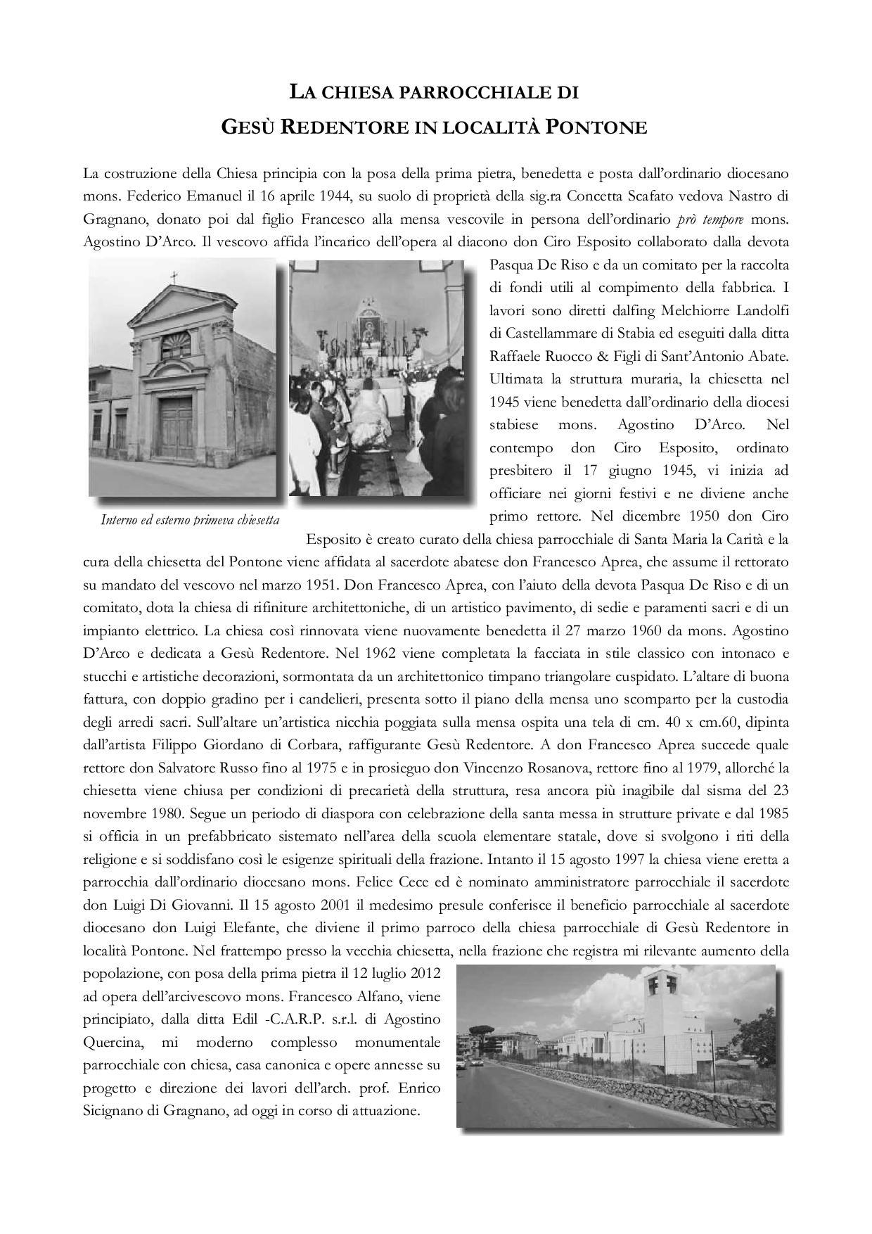 La Chiesa Parrocchiale di Gesù Redentore in località Pontone
