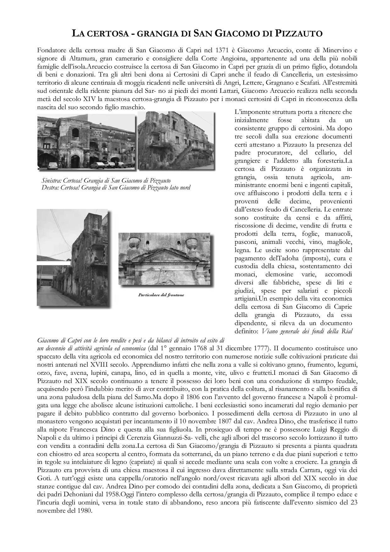 La Certosa-Grangia di San Giacomo di Pizzauto