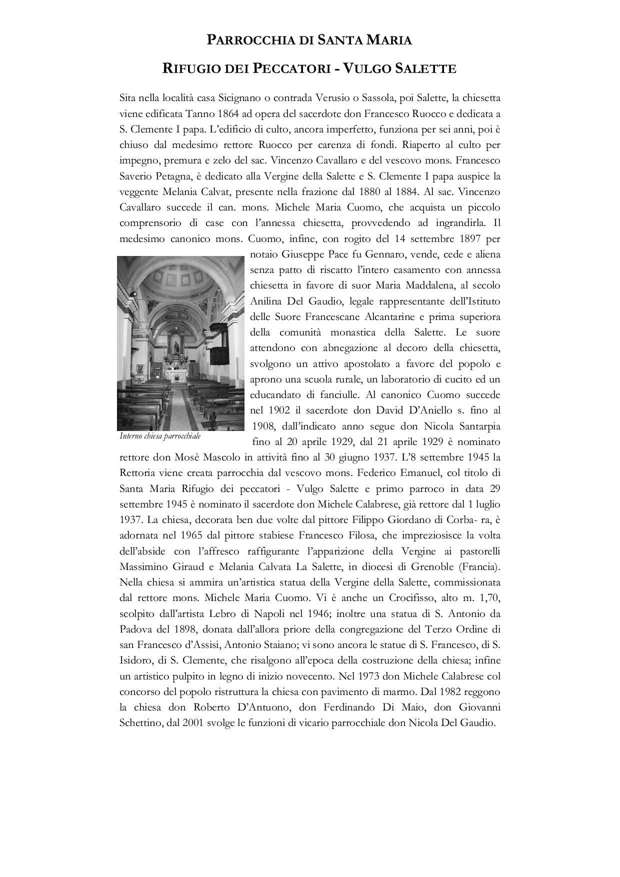 Parrocchia di Santa Maria Rifugio dei Peccatori - Vulgo Salette