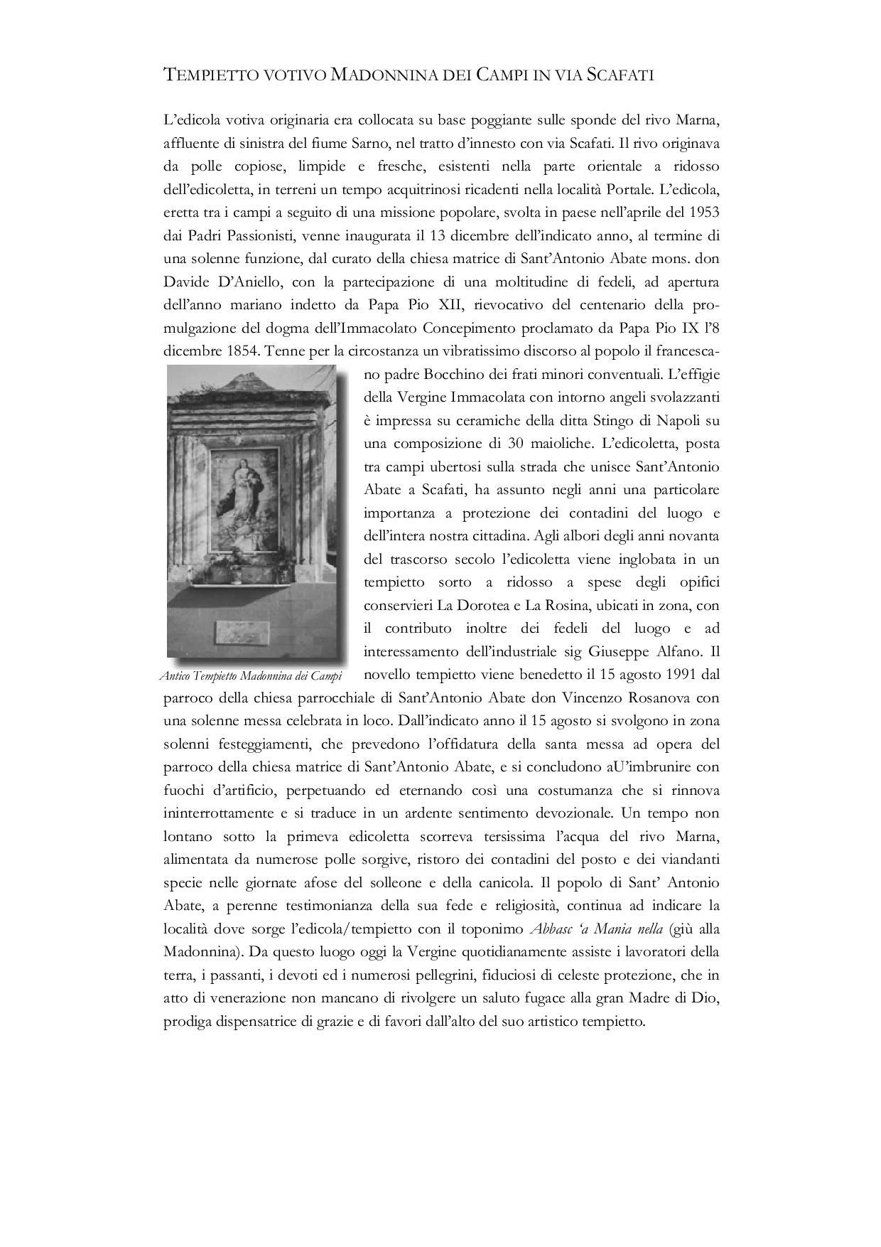 Tempietto votivo Madonnina dei Campi in via Scafati