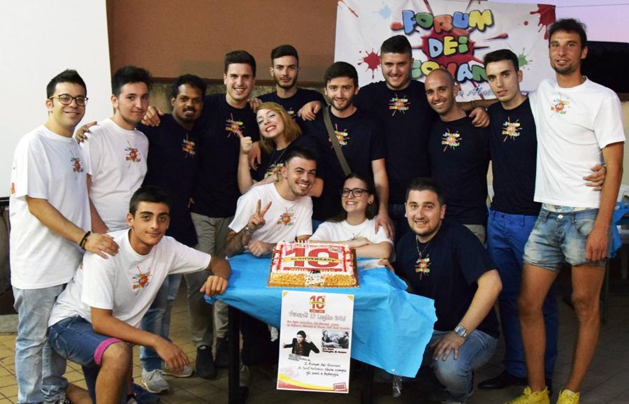 festeggiamenti decimo anniversario della nascita del Forum dei Giovani di Sant'Antonio Abate